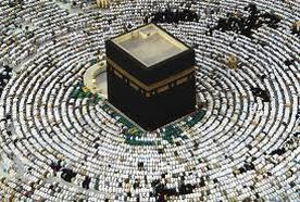 The Hajj pilgrimage for Muslims. THe kabaa in Mecca newmuslimessentials.com